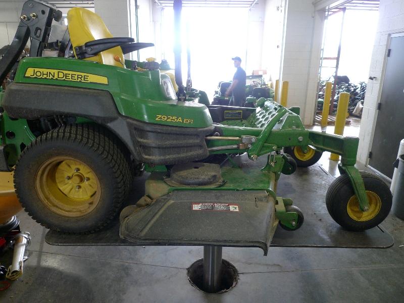 riding mower on quakermayd lift in bucks county